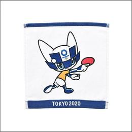 オリンピック クマスコット卓球 ミニタオル