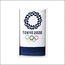 オリンピック OPエンブレムギフト フェイスタオル